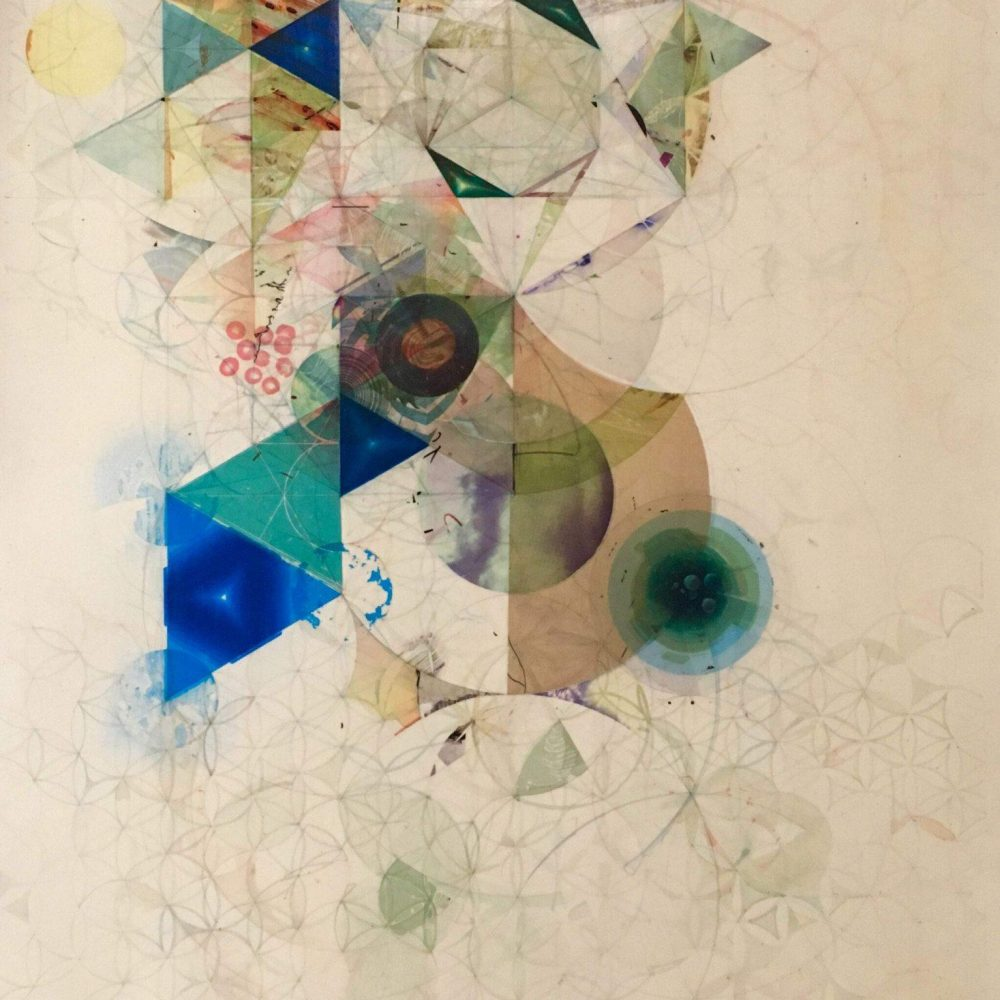 Flower of LIfe graphite and ink transfer on paper 22x30_ 2014 $3,575 USA